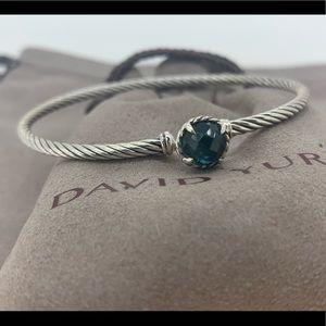 David Yurman 3mm Chatelaine Bracelet Hampton Blue
